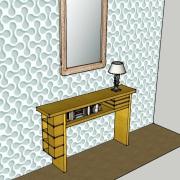 Vue de côté, tiroirs pivotants fermés, sycomore massif, assemblage à rainure à queue d'aronde