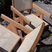 Fabrication L'Eben'Istor fauteuil style Pierre Jeanneret